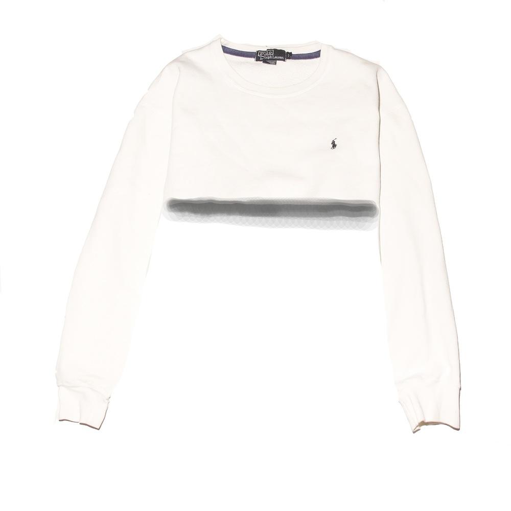 e5d120ea523 Polo Ralph Lauren Snow White Crop Top