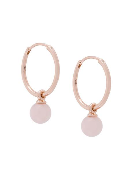 Astley Clarke women opal earrings hoop earrings gold grey metallic jewels