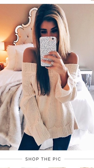 sweater off the shoulder