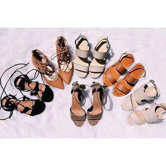 shoes sandals wedges gojane gladiators