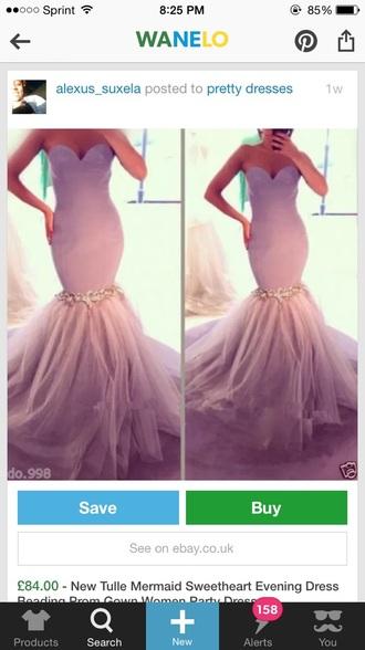 dress light purple long prom dress mermaid prom dress