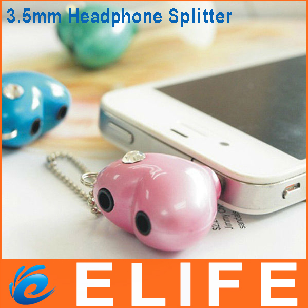 3.5mm Double Jack Headset Earphone Headphone Splitter Heart for Smart Cellphone MP3 MP4 Pad Computer From Elife-in Consumer Electronics on Aliexpress.com