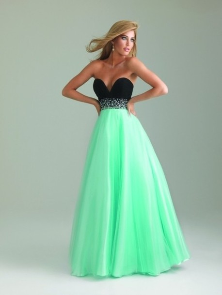 dress, pretty, prom dress, light blue, comfy, long prom dress, mint ...
