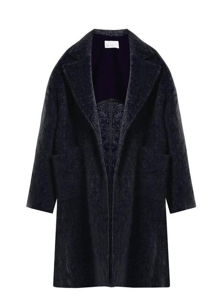 Raey coat blanket coat wool navy