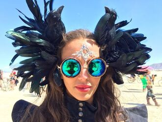 sunglasses round sunglasses mirrored sunglasses burning man burning man costume festival music festival