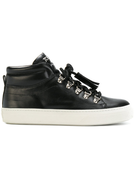 tassel women sneakers leather black shoes