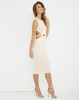 dress blush blush dress midi dress cut-out dress