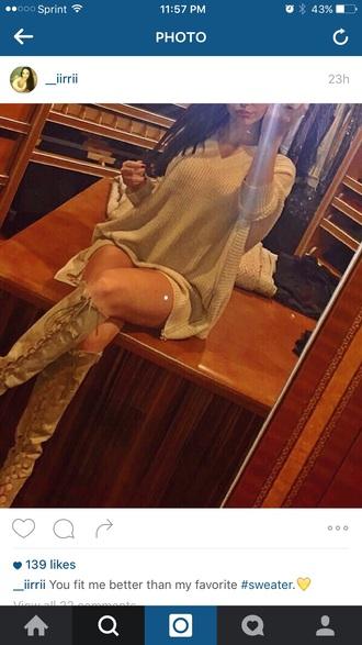 sweater tan sweater dress