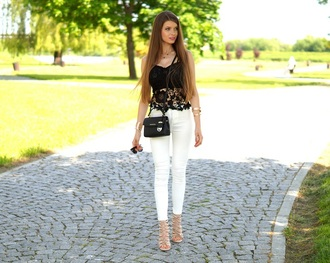 only my fashion style blogger top pants jewels bag shoes