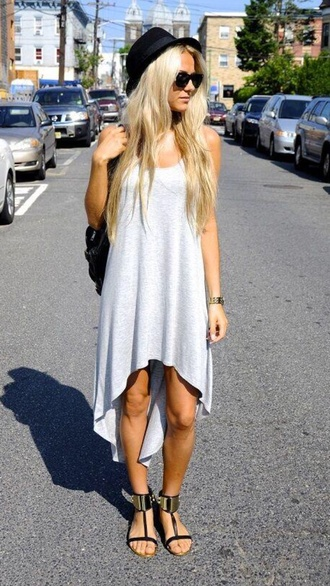 dress gray high low