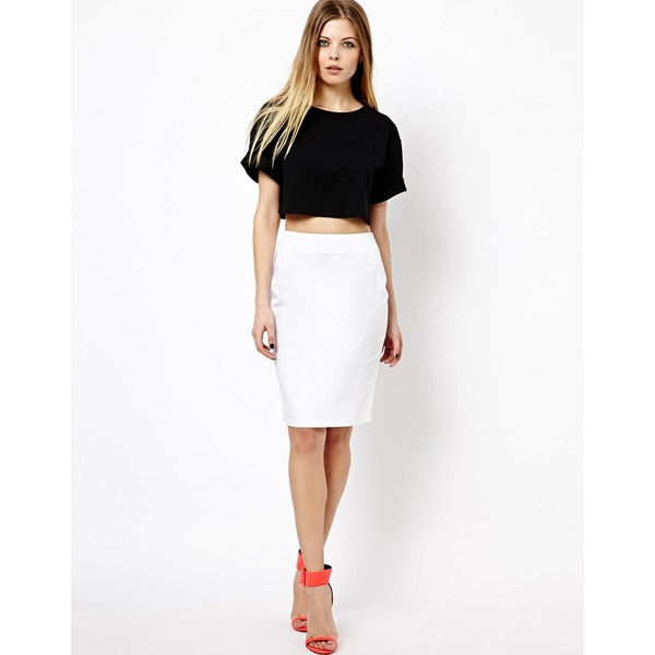 ASOS High Waisted Pencil Skirt - Polyvore