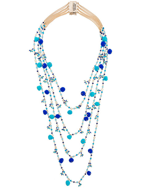 Rosantica women beaded necklace blue jewels