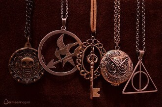 jewels necklace harry potter percy jackson the hunger games pirates of the caribbean neklace