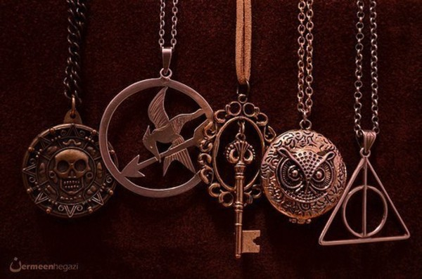 jewels necklace harry potter percy jackson the hunger games pirates of the caribbean necklace