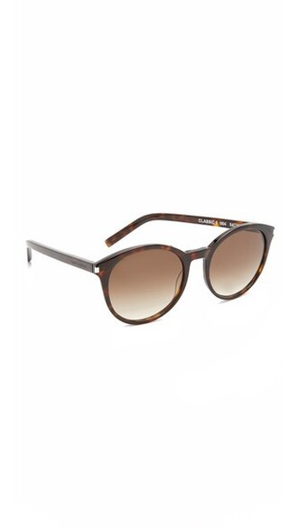 dark classic sunglasses brown
