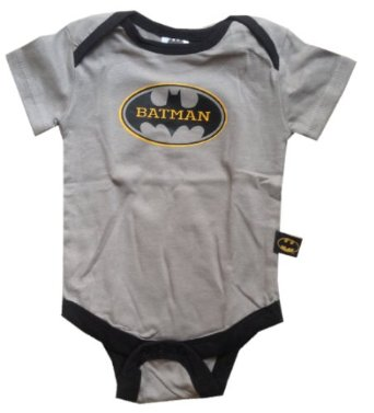 Amazon.com: BATMAN - Logo #1 - Officially Licensed Grey Baby Onesie - size 3-6 Months: Clothing