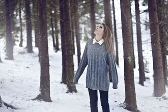 grey sweater blue sweater grey blue
