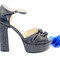 Studded wide heel sandals