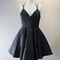 Sexy short black halter homecoming dresses, summer dresses, little black dresses