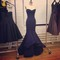 2015 sweetheart mermaid navy blue satin evening dresses formal celebrity gowns layered train floor length dresses plus size-in evening dresses from weddings & events on aliexpress.com | alibaba group