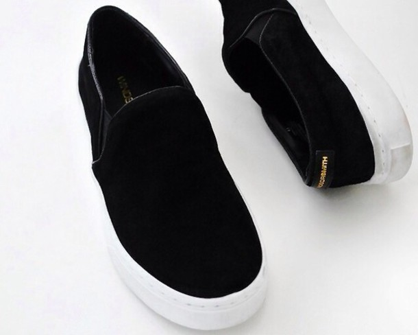 shoes sneakers black b and w