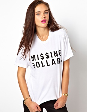 Brashy Couture | Brashy Couture Missing Dollars T-Shirt at ASOS