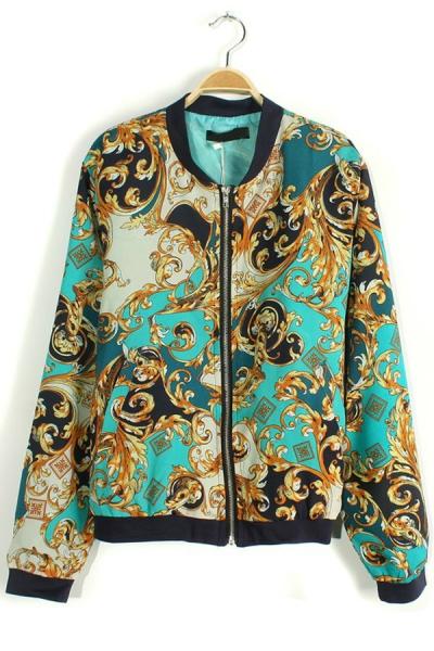 Vintage Floral Print Blazer - OASAP.com