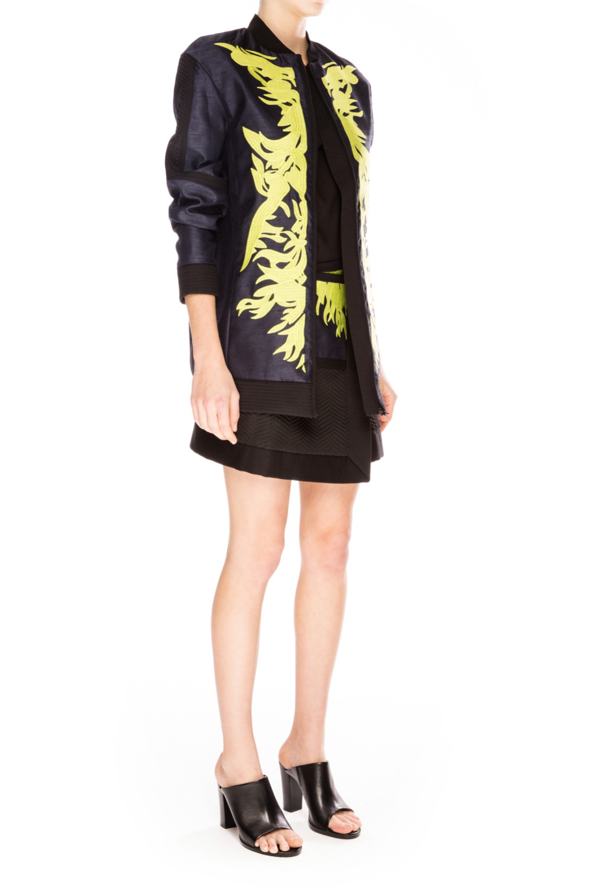 Cameo WORLDS AWAY BOMBER NAVY/CHARTREUSE - BNKR