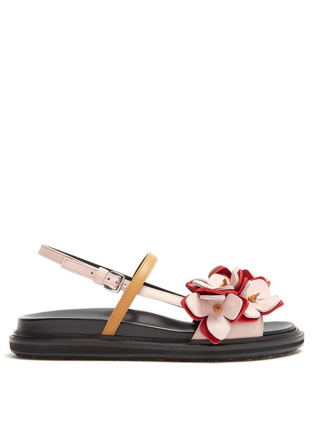 MARNI sandals flat sandals leather pink shoes