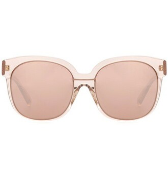 oversized sunglasses gold