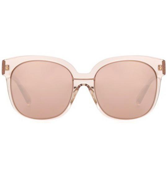 Linda Farrow Oversized square sunglasses in gold