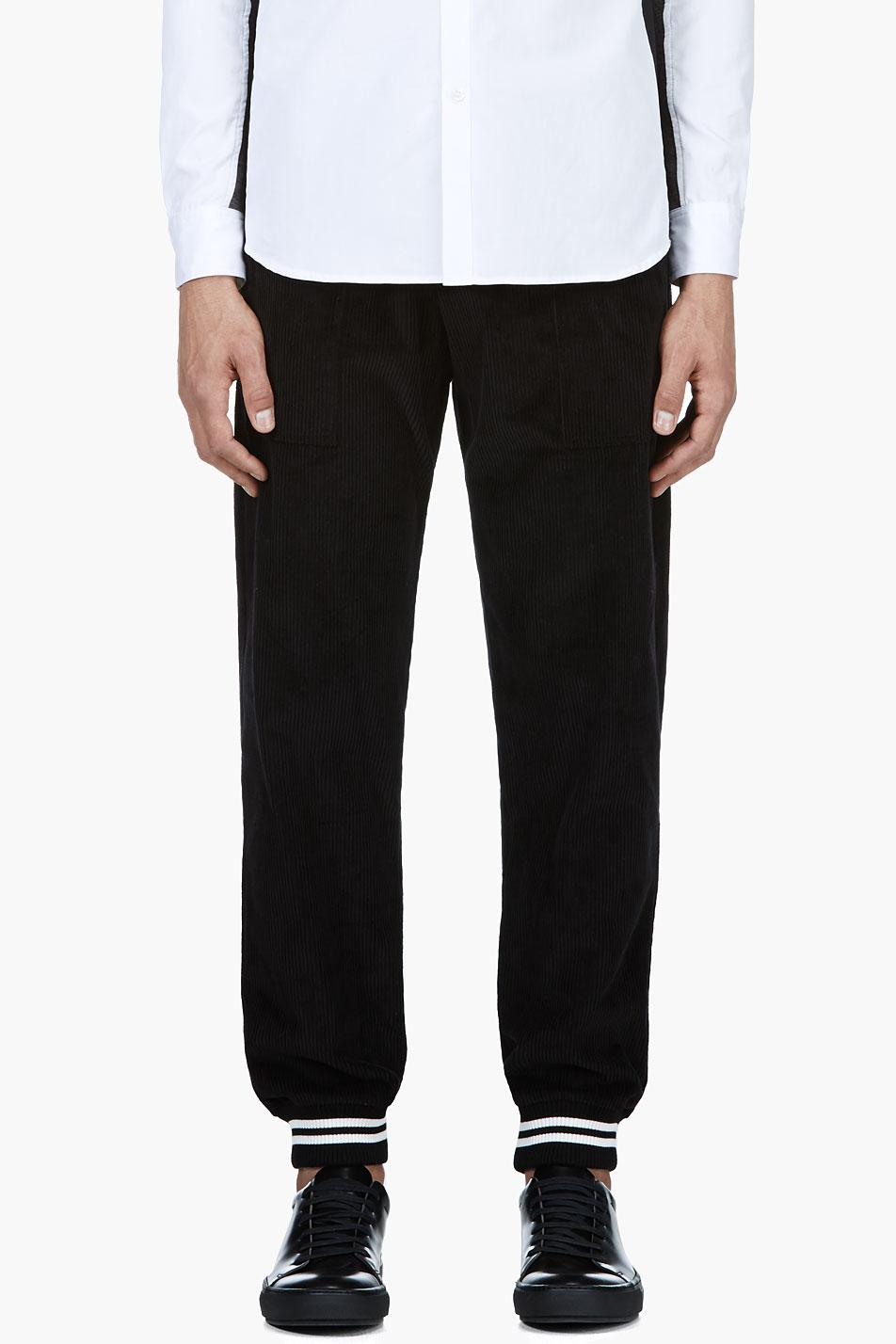 Band of outsiders black corduroy lounge pants