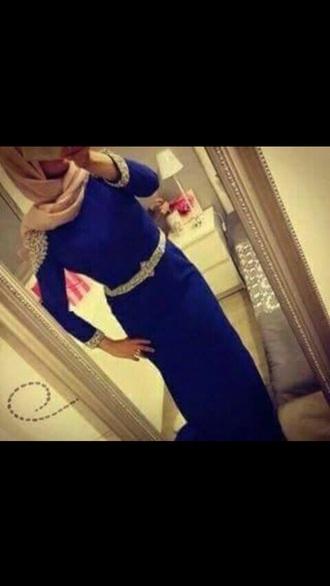 dress blue blue dress evening dress sequins