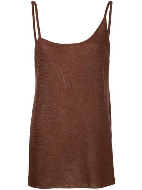 Kacey Devlin camisole women side split brown underwear
