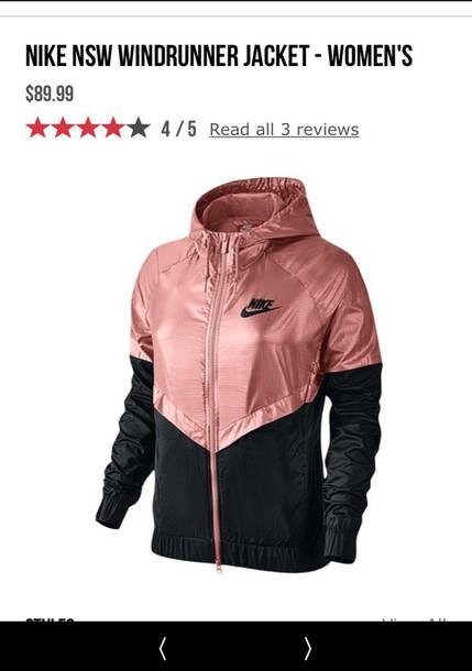 26ee6e14f jacket, nike, black, rose gold, nike windbreaker, windbreaker ...