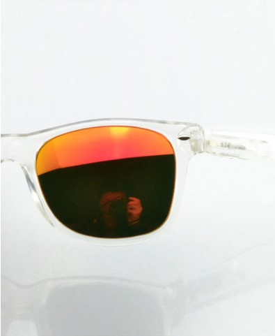 Retro Sunglasses with Red Tinted Lenses