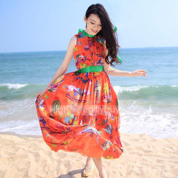 Orange Dresses For Women  341f4ff9d889