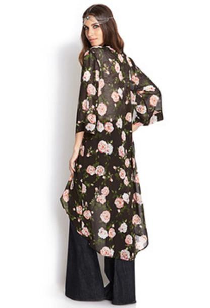 Floral Kimono Blouse