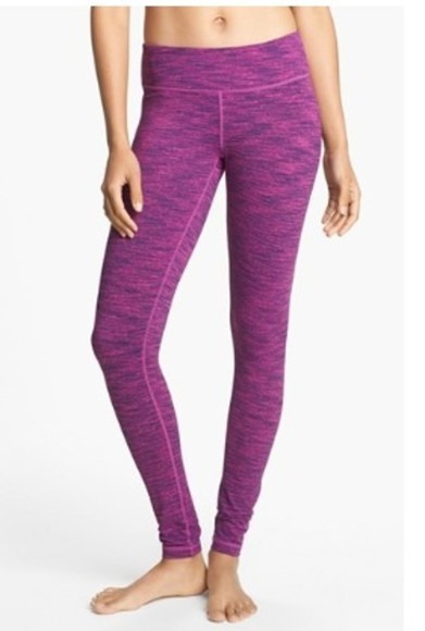 cute nike multicolor color pink pants leggings yoga yoga pants athletic purple run fit fitness