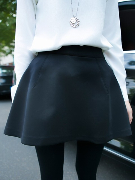 Black Mini Skirt with Under Short | Choies
