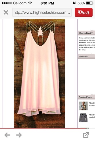 dress pink chain petite spring