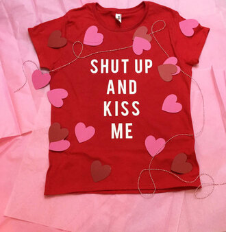t-shirt valentines day gift idea red girly wishlist gift ideas love quotes shirt