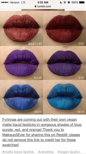 make-up lips lipstick mac cosmetics red blue purple