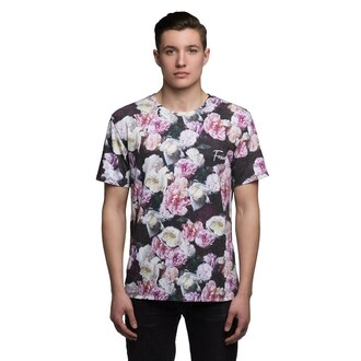 t-shirt roses flowers floral flower print t-shirt printed t-shirt roses t-shirt roses tee menswear mens t-shirt urban menswear