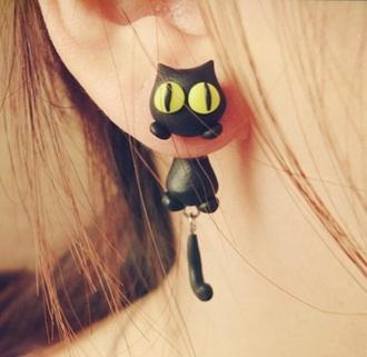 jewels earrings cats