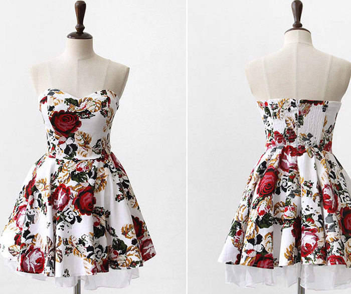 Through straps cotton dress for women (as the picture,one size)