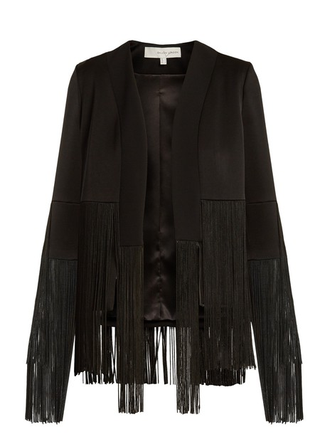 Galvan jacket fringed jacket black