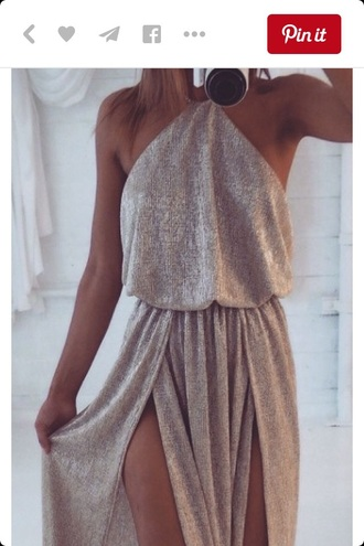 dress slit dress maxi dress metalic dress