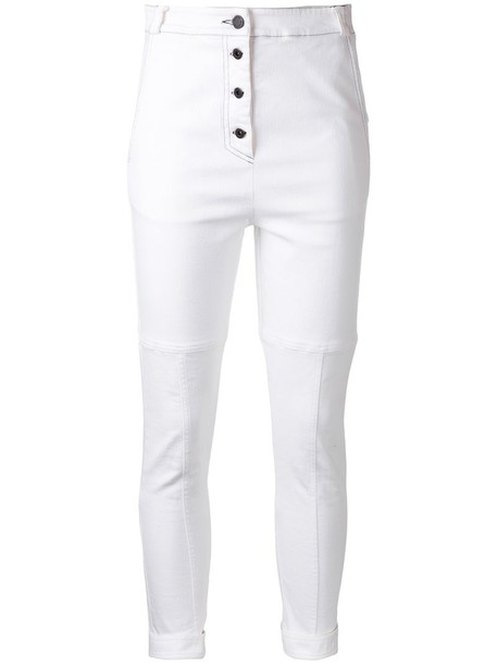 Manning Cartell women spandex white cotton pants