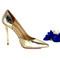 Classic footwear - metallic gold classic high heel